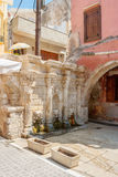 Rimondi fountain. Rethymno. Crete, Greece Royalty Free Stock Photography