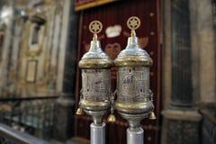 rimonims银色犹太教堂 免版税库存照片