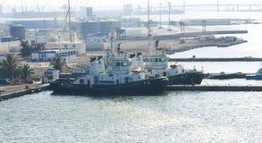 Rimorchiatori al porto di La Goletta Immagine Stock Libera da Diritti