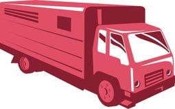 Rimorchio del camion del cavallo retro Immagine Stock