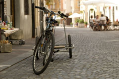 Rimorchio della bici Immagini Stock