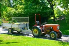 Rimorchio di trattore a ruote Fotografia Stock Libera da Diritti
