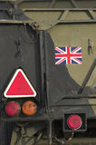 Rimorchio militare britannico - particolare Immagini Stock