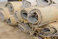 Rimozione del tappeto fotografie stock libere da diritti