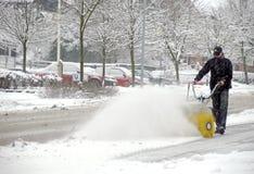 Rimozione della neve Immagini Stock