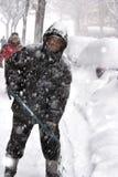 Rimozione di neve fotografie stock