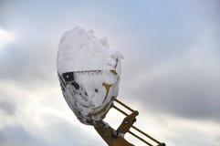Rimozione di neve Fotografia Stock