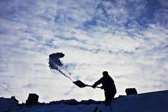 Rimozione di neve Fotografie Stock Libere da Diritti