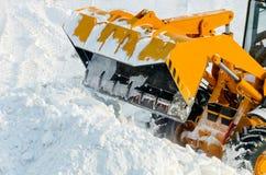 Rimozione di neve immagini stock