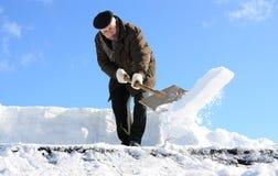 Rimozione di neve manuale Immagini Stock Libere da Diritti