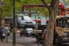 Rimozione di un'automobile Fotografie Stock Libere da Diritti