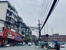 Rimozione di vecchia via di Zhuantang fotografia stock