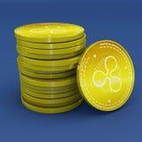 Rimpeling, xrp, cryptocurrency, elektronisch geld, virtuele munt, overgangen stock illustratie
