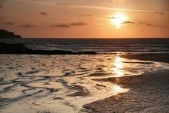 Rimpelingen bij zonsondergang Stock Afbeeldingen