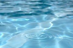 Rimpelingen in het water Stock Foto