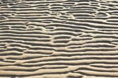 Rimpelingen in het zand Stock Afbeeldingen