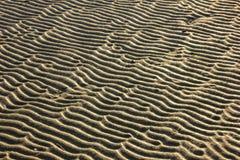 Rimpelingen in het zand stock afbeelding