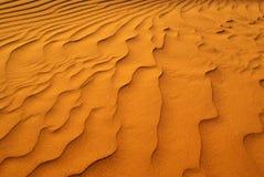 Rimpelingen in het zand Stock Foto's