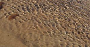 Rimpelingen van water op een zandige achtergrond stock footage