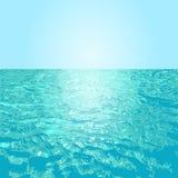 Rimpelingswaterspiegel met hemelachtergrond vector illustratie