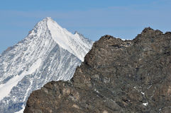 Rimpfischhorn and Weisshorn Royalty Free Stock Image