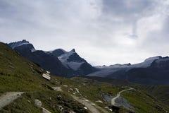 Rimpfishhorn, strahlhorn und adlerhorn Stockfotos
