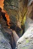 Rimpinzi di in cascate di Trummelbach nel cantone Svizzera di Berna della valle di Lauterbrunnen Fotografie Stock Libere da Diritti