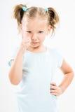 Rimproverare arrabbiato della bambina immagini stock