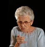 Rimproverare nonna Immagine Stock Libera da Diritti