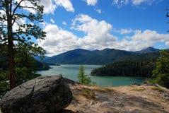 Rimrock湖在华盛顿州 库存照片