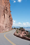 Rimrock Drive. Rim-hugging scenic drive in the Colorado National Monument at the edge of the Uncompahgre Plateau near Grand Junction Stock Photography