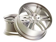 Rims. Aluminium rims on isolated background Royalty Free Stock Photography