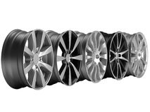 Rims 3d rendering Stock Photos