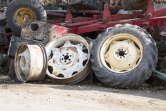Rims and tires Stock Images