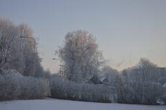 Rimy городок зимы стоковое изображение rf