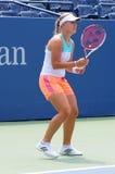 Le joueur de tennis professionnel Angelique Kerber pratique pour l'US Open Images libres de droits