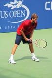 Le joueur de tennis professionnel Ryan Harrison pratique pour l'US Open Photo stock
