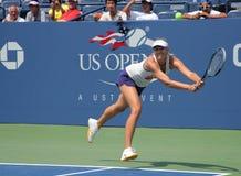 Quatre pratiques en matière de Maria Sharapova de champion de Grand Chelem de périodes pour l'US Open Photo libre de droits