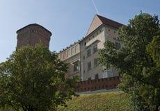 Rinascita di Wawel e castello gotico Immagine Stock Libera da Diritti