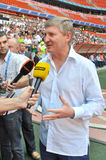Rinat Akhmetov giving an interview Stock Image