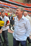 Rinat Akhmetov looks to journalists Stock Photos