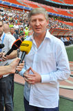 Rinat Akhmetov thinks over the question Stock Images