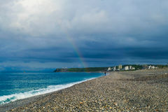 Rinbow by the seaside Stock Photo