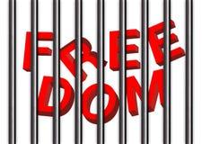 Rinchiuda la libertà, blogger l'idea Fotografia Stock Libera da Diritti