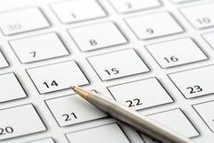 Rinchiuda sul calendario 1 Fotografie Stock