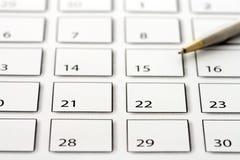 Rinchiuda sul calendario 3 Fotografia Stock