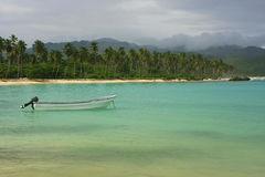 Rincon beach, Samana peninsula Royalty Free Stock Image