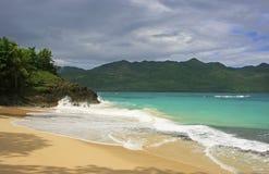 Rincon beach, Samana peninsula Royalty Free Stock Photo