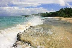 Rincon beach, Samana peninsula Royalty Free Stock Photography