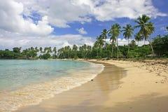 Rincon beach, Samana peninsula. Dominican Republic stock photo